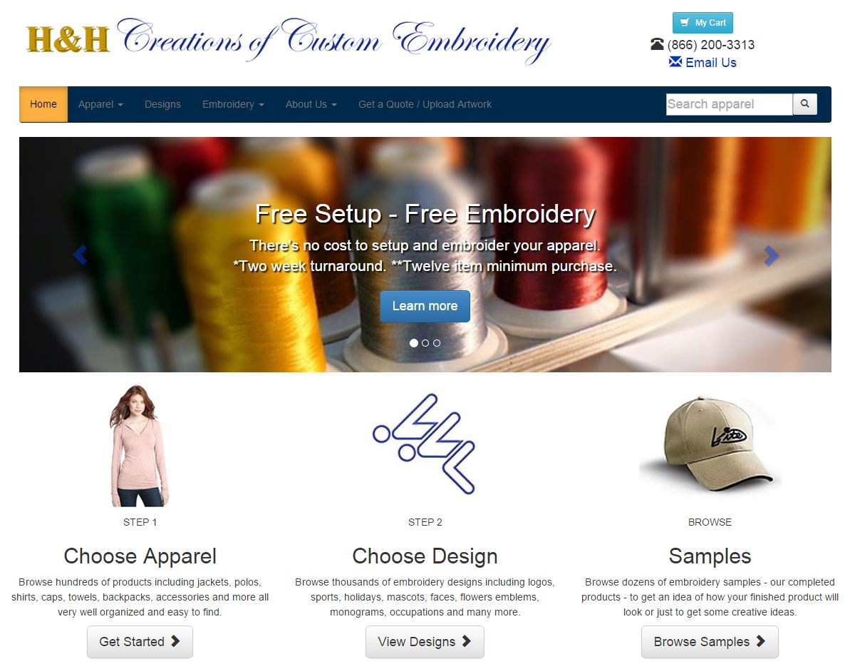 custom designed ecommerce websites