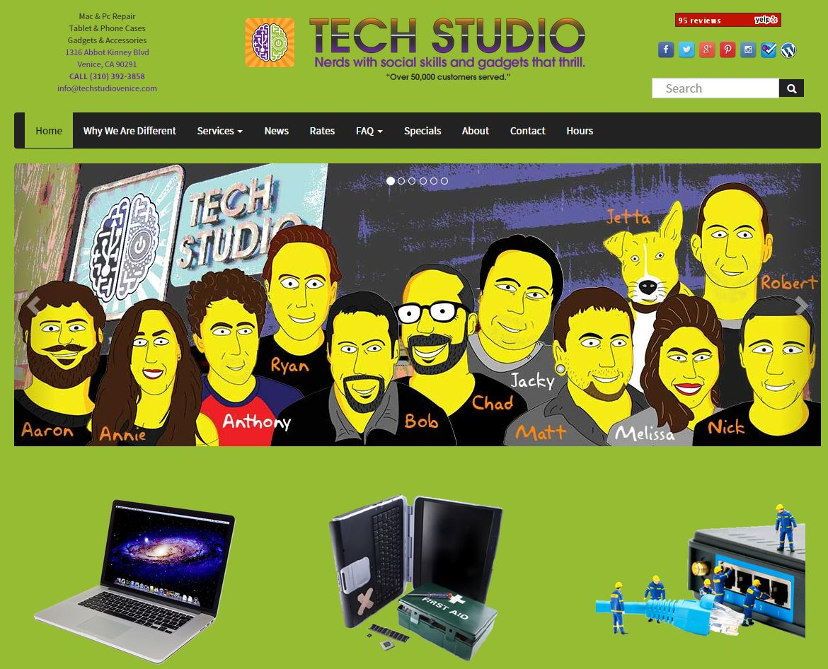 custom designed corporate website